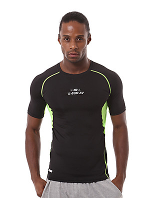 Running T-shirt / Sweatshirt Men's Short Sleeve Breathable / Quick Dry / Sweat-wicking / Comfortable Nylon / Chinlon