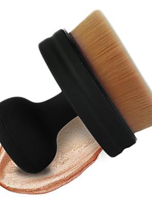 1 מברשת מייקאפ שיער סינטטי מקצועי / סינטטי / מגביל חיידקים / נייד Plastic פנים MAKE-UP FOR YOU