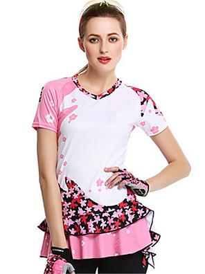 Esportivo Saia para Ciclismo Mulheres Manga Curta Moto Respirável / Confortável / Filtro Solar Camisa/Fietsshirt Elastano / Seda Clássico
