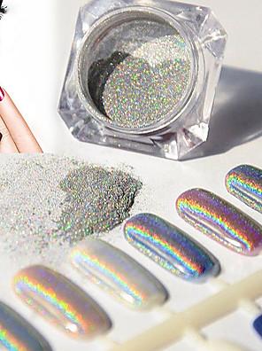 2g / kasse søm glitter pulver skinnende spejl øjenskygge makeup pulver støv søm kunst DIY krom pigment glitter