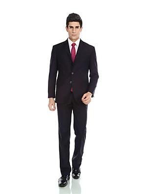 2017 smokingy na míru fit zářez jediný oblek tři tlačítka vlna& polyester mísí solidní 2 piecesdark