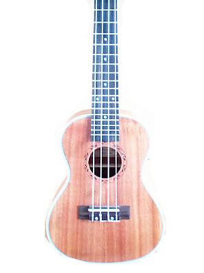 Ukulele Gebarsten Bruin String Musical Instrument Hoes