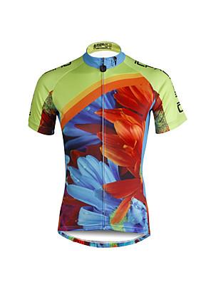 PALADIN® חולצת ג'רסי לרכיבה לנשים שרוול קצר אופנייםנושם / ייבוש מהיר / עמיד אולטרה סגול / דחיסה / חומרים קלים / רצועות מחזירי אור / כיס