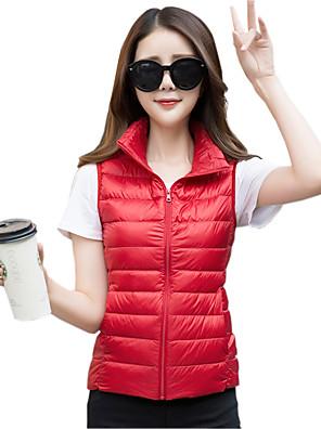 Ujjatlan Egyszerű / Utcai sikk / Aktív Női Sportos kabátok Kabát,Poliészter