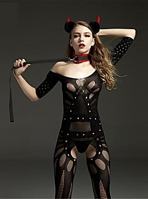 Ženy Prádlo s podvazky / Ultra sexy / Košilka na ramínka Noční prádloNylon Černá Dámské