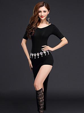 Břišní tanec Šaty Dámské Výkon Modální Rozparek vpředu 2 kusy Krátké rukávy Přírodní Šaty / KraťasySuitable Weight