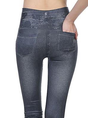 Women Solid Color / Denim / Fleece Lined Legging,Polyester