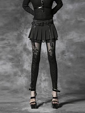 PUNK RAVE  Women's Black Skinny Pants , Vintage