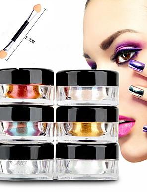 12pcs 2g / kasse søm glitter pulver skinnende spejl øjenskygge makeup pulver støv søm kunst DIY krom pigment glitter