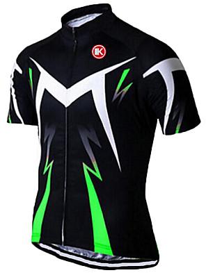 KEIYUEM® חולצת ג'רסי לרכיבה יוניסקס שרוול קצר אופנייםנושם / ייבוש מהיר / עמיד אולטרה סגול / רוכסן קדמי / נגד חשמל סטטי / כיס אחורי / נגד