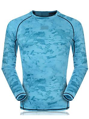 ריצה סווטשירט יוניסקס שרוול ארוך נושם / ייבוש מהיר / דחיסה / תומך זיעה סיבי במבוק פחמן ריצה ספורטיבי בגדי ספורט מתיחה צמוד בגדי שטחאדום /