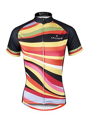 PALADIN® חולצת ג'רסי לרכיבה לנשים שרוול קצר אופנייםנושם / ייבוש מהיר / עמיד אולטרה סגול / חומרים קלים / רצועות מחזירי אור / כיס אחורי /