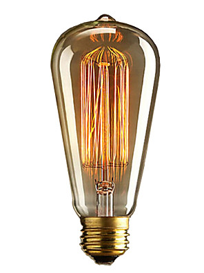 glødepære retro vintage industrielle glødelamper 40W