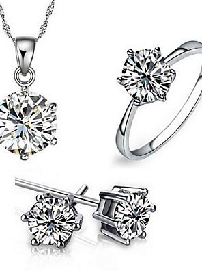 Ékszerek Nyakláncok / Naušnice / Gyűrűk Menyasszonyi Ékszerek Divatos / Imádni való Parti / Napi / Hétköznapi 3db Női FehérEsküvői