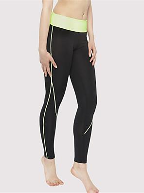 מכנסיים יוגה טייץ רכיבה על אופניים / תחתיות נושם / ייבוש מהיר / דחיסה / נוח טבעי גמישות גבוהה בגדי ספורט צהוב / ורוד / אפור לנשים