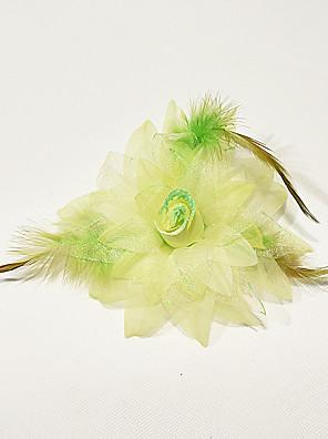 Decoração de Cabelo(Fúcsia / Azul Claro / Verde Claro / Rosa / Roxo / Branco / Amarelo,Poliéster / Penas,Dança Moderna) - deDança Moderna-