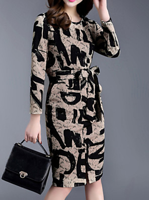 Spring New Women Lace Printed Dress
