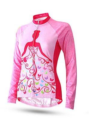 Esportivo Calça com Camisa para Ciclismo Mulheres Manga Comprida Moto Respirável / Confortável / Filtro Solar Conjuntos de Roupas/Ternos