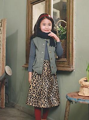 Girl's Holiday Leopard SkirtPolyester Winter / Spring / Fall Beige