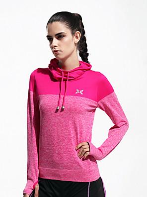 ריצה סווטשירט / צמרות לנשים שרוול ארוך נושם / ייבוש מהיר / חומרים קלים / נוח ניילון / פוליאסטר כושר גופני / ספורט פנאי / ריצה ספורטיבי