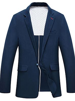 2017 obleky standardní fit zářez jediný breasted jedním tlačítkem polyester pevná jeden kus námořnická modř rovně třepotal