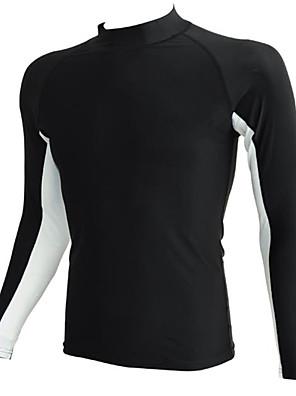 Esportivo Homens Roupa de Banho Compressão / Confortável Tops de Natação Ajustável Ajustável Preto / Azul Preto / Azul S / M / L