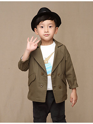 Boy's Casual/Daily Solid Suit & BlazerCotton Spring / Fall Green / Beige / Gray