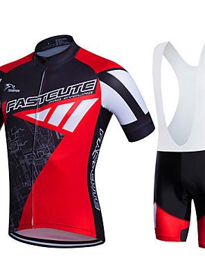 Fastcute® חולצת ג'רסי ומכנס קצר ביב לרכיבה לנשים / לגברים / יוניסקס שרוול קצר אופנייםנושם / ייבוש מהיר / חדירות ללחות / 3D לוח / תומך
