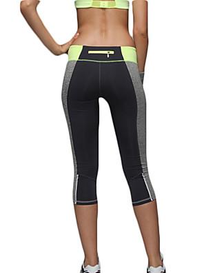 Jóga kalhoty Üst / Spodní část oděvu Prodyšné / Rychleschnoucí / Komprese / Pohodlné Přírodní Vysoká pružnost Sportovní oblečeníŽlutá /