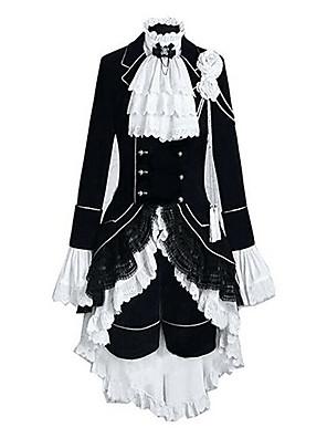 Inspirovaný Black Butler Ciel Phantomhive Anime Cosplay kostýmy Cosplay šaty Barevné bloky / Patchwork Biały / Czarny Dlouhé rukávyVesta