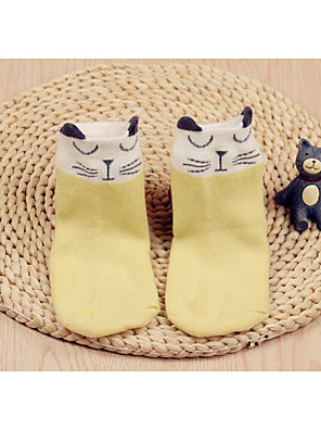 Girl Casual/Daily Print Underwear & Socks-Cotton-Fall Cartoon