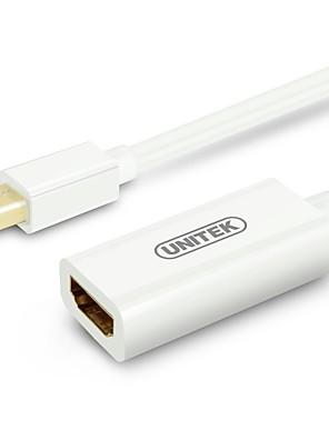 UNITEK hd hdmi adapter kabel mini dp til HDMI-kabel forgyldt