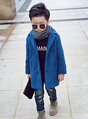 Boy Běžné/Denní Jednobarevné Zima Bundičky a kabáty Bavlna Modrá / Žlutá