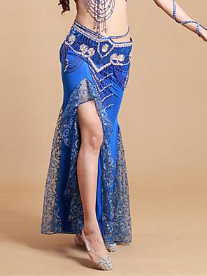 ריקוד בטן חצאיות טוטו וחצאיות בגדי ריקוד נשים ביצועים ספנדקס / פוליאסטר קפלים חלק 1 טבעי חצאית 93cm