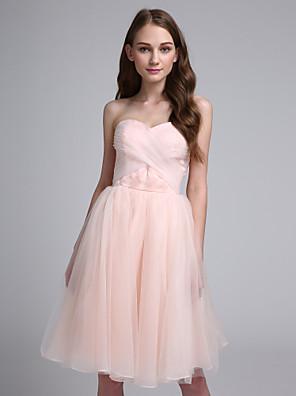 Lanting Bride® Ke kolenům Organza Šaty pro družičky - Plesové šaty Srdce s Křížení