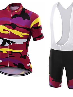 Sportovní Cyklodres a kraťasy se šlemi Unisex Krátké rukávy Jezdit na koleProdyšné / Rychleschnoucí / Odolné vůči prachu / Nositelný /