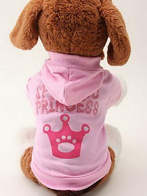 kočičky / pejsky mikiny Růžová Oblečení pro psy Jaro/podzim Tiáry a korunky Módní