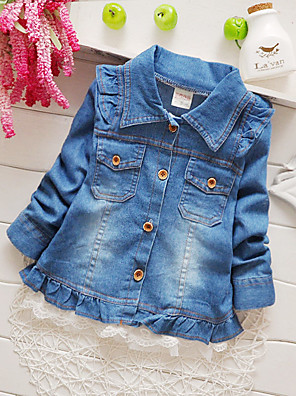 Girl Going out Solid Suit & Blazer,Cotton All Seasons Long Sleeve