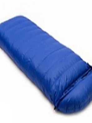 Saco de dormir Retangular Solteiro (L150 cm x C200 cm) 10 Penas de Pato 400g 180X30 CampismoÁ Prova-de-Chuva / Dobrável / Portátil /