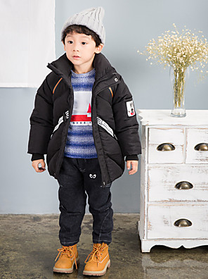 Boy Casual/Daily Solid Down & Cotton Padded,Polyester Winter Long Sleeve