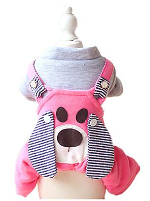Cães Calças / Peitorais Amarelo / Azul / Rosa Roupas para Cães Inverno / Primavera/Outono Animal Mantenha Quente