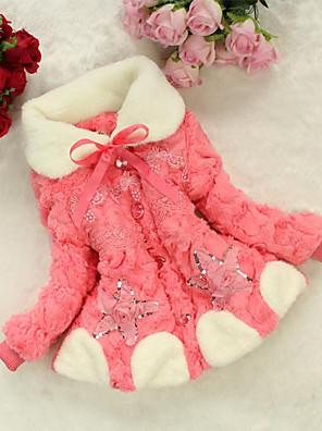Dívky Další Běžné/Denní Barevné bloky Zima S podšívkou,Dlouhý rukáv