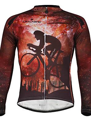 PALADIN® חולצת ג'רסי לרכיבה לגברים שרוול ארוך אופנייםעמיד למים / נושם / עמיד / בטנת פליז / מבודד / רצועות מחזירי אור / כיס אחורי / מפחית