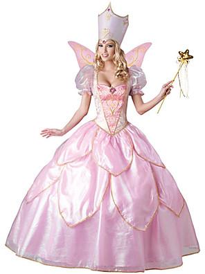 Princesa Festival/Celebração Trajes da Noite das Bruxas Rosa Cor Única / Rendas Vestido / ChapéusDia Das Bruxas / Natal / Carnaval / Dia