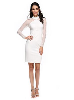 TS Couture® Koktejlový večírek Šaty - Průsvitný Pouzdrové Stojáček Ke kolenům Tyl / Úplet s Sklady