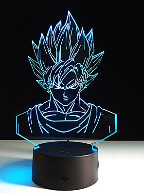 1pc שבעה כדור דרקון סטריאו חזון הצבעוני הוביל חזון מנורת לילה מנורת אקריליק שיפוע צבעוני אור מנורת 3D (אין שליטה מרחוק)