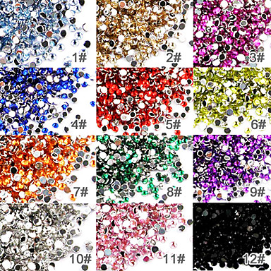 Buy 50 Nail Art Acrylic Rhinestones 2mm Decoration