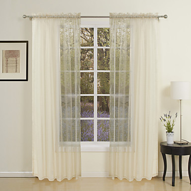 zwei Panele Window Treatment Modern , Solide Wohnzimmer Polyester ...