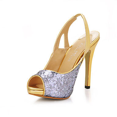 beautiful sparkling glitter stiletto heel evening
