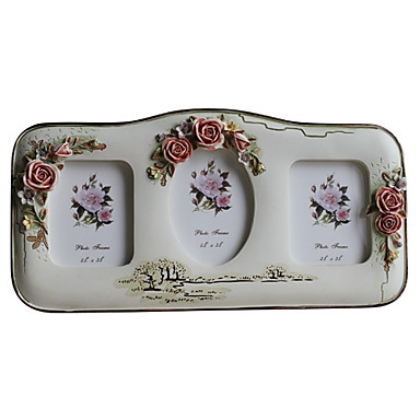 """3.5"""" 5""""Whole Family-Country Floral Polyresin Picture Frame"""